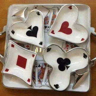Serving Tray, Playing cards design