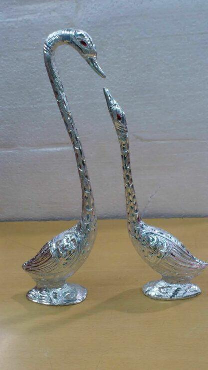 Pair of Ducks, White Metal